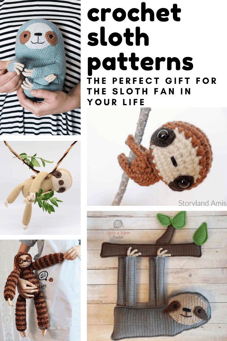 Oh my goodness these sloth crochet patterns are so adorable! From babies to grownups there is a handmade gift idea for all ages!