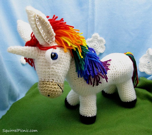 Rainbow Donkey Unicorn Crochet Pattern