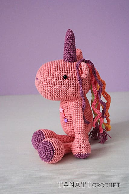 Toy Unicorn Crochet pattern 14 Inches