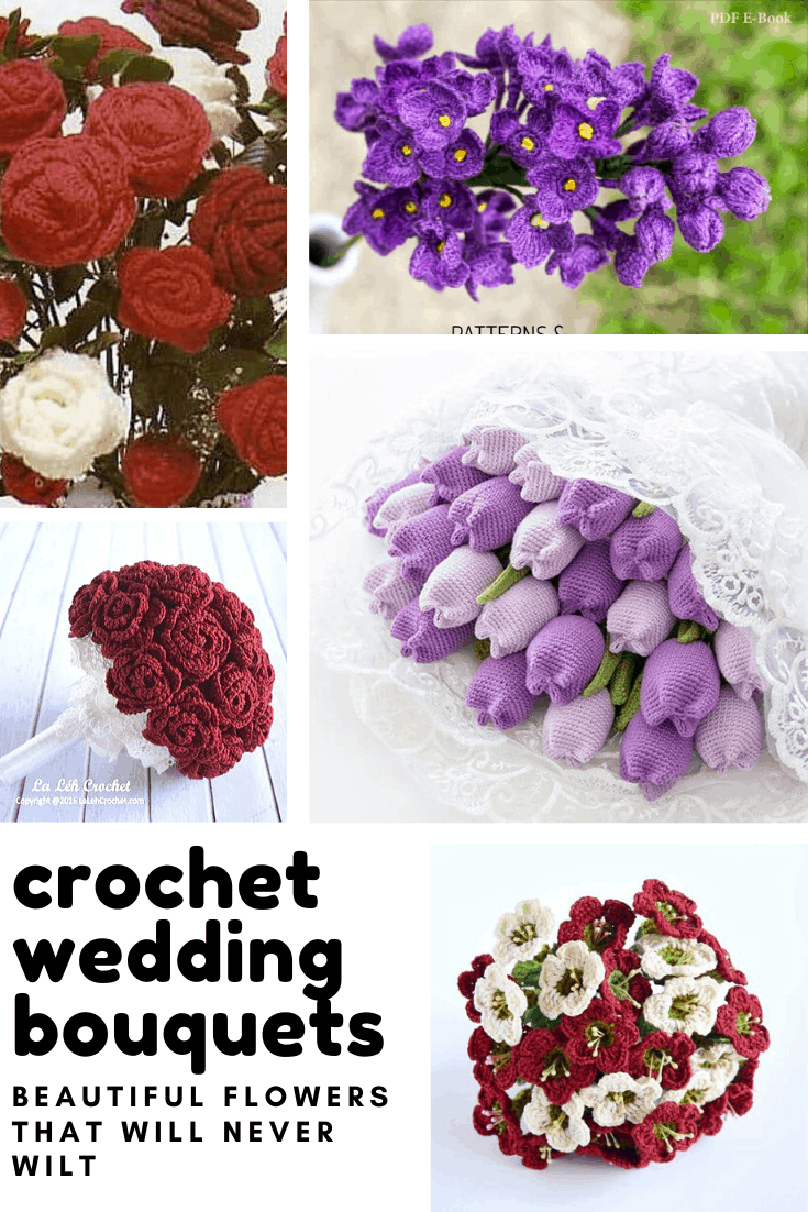 Wow! These crochet wedding bouquets are just beautiful - and you never have to worry about them wilting! They would make a wonderful wedding keepsake for sure!