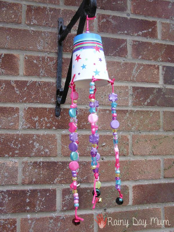 Windchime cup craft from Rainy Day mum