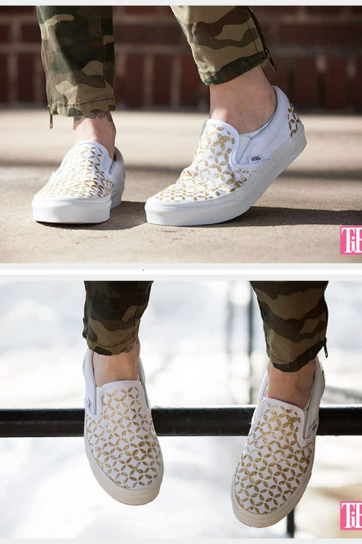 DIY Stenciled Sneakers