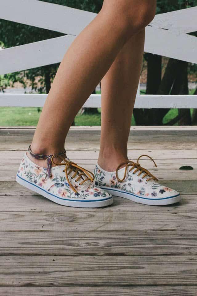 DIY Floral Vans Restyle