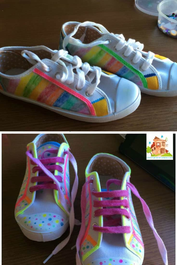 Decorating Shoes with Fabric Pens