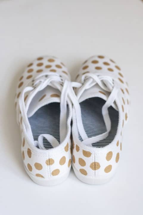 Easy as D-I-Y: Polka Dot Sneakers