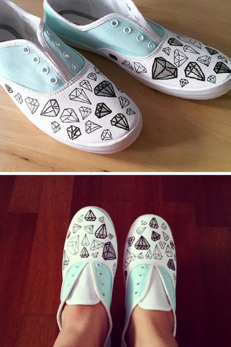 Fashion style DIY Customized Tutorial: Slip-On Sneakers for woman