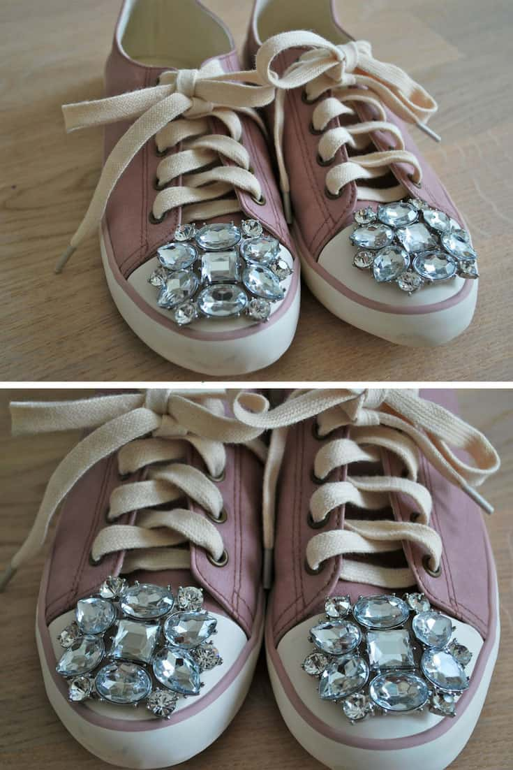 DIY Jeweled Sneakers