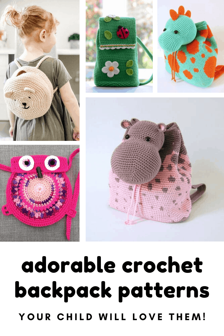 These cute crochet backpacks make brilliant gift ideas for kids #crochet