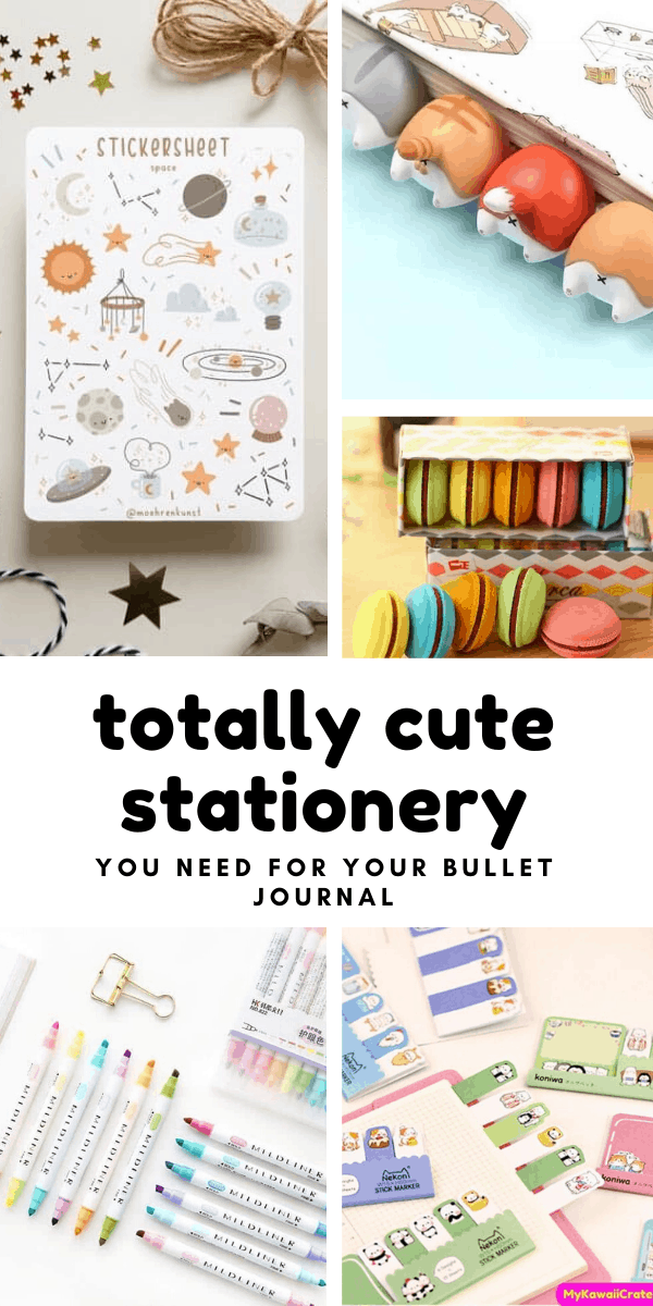 OMG this stationery is totally cute and perfect for your bullet journal!