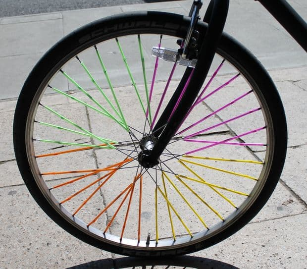How to Decorate a Bike: Give your spokes a day glow feel