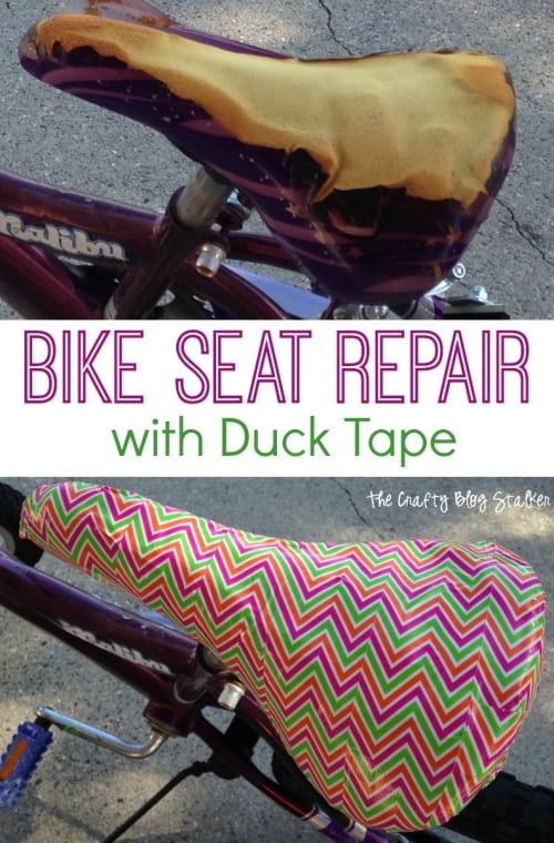 How to Decorate a Bike: Repair a torn saddle with Duck Tape