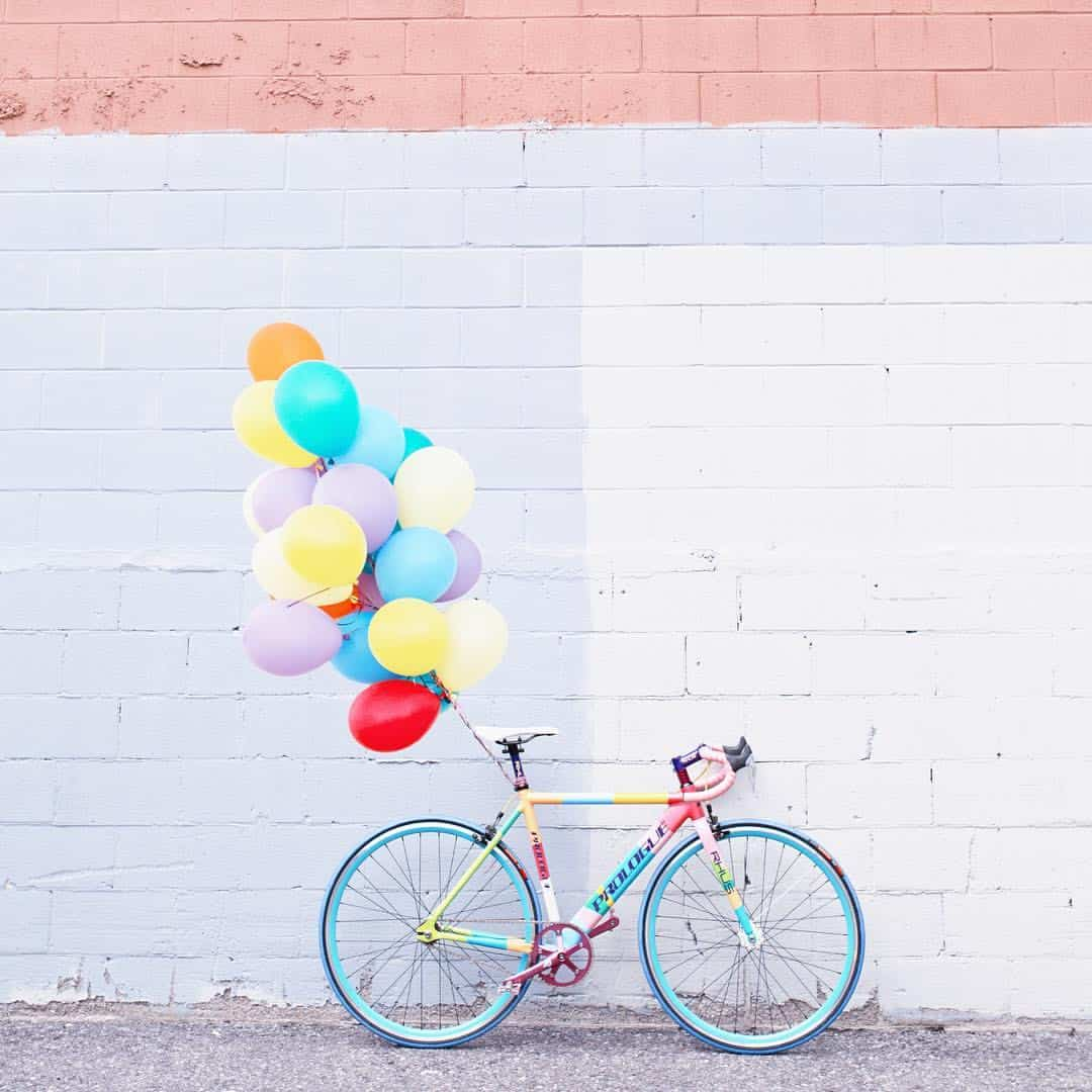 How to Decorate a Bike: Paint it in pastel stripes