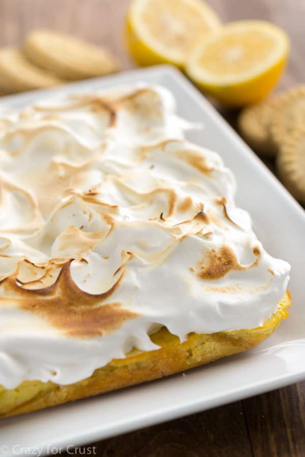 LEMON MERINGUE PIE BARS {SHORTBREAD CRUST}