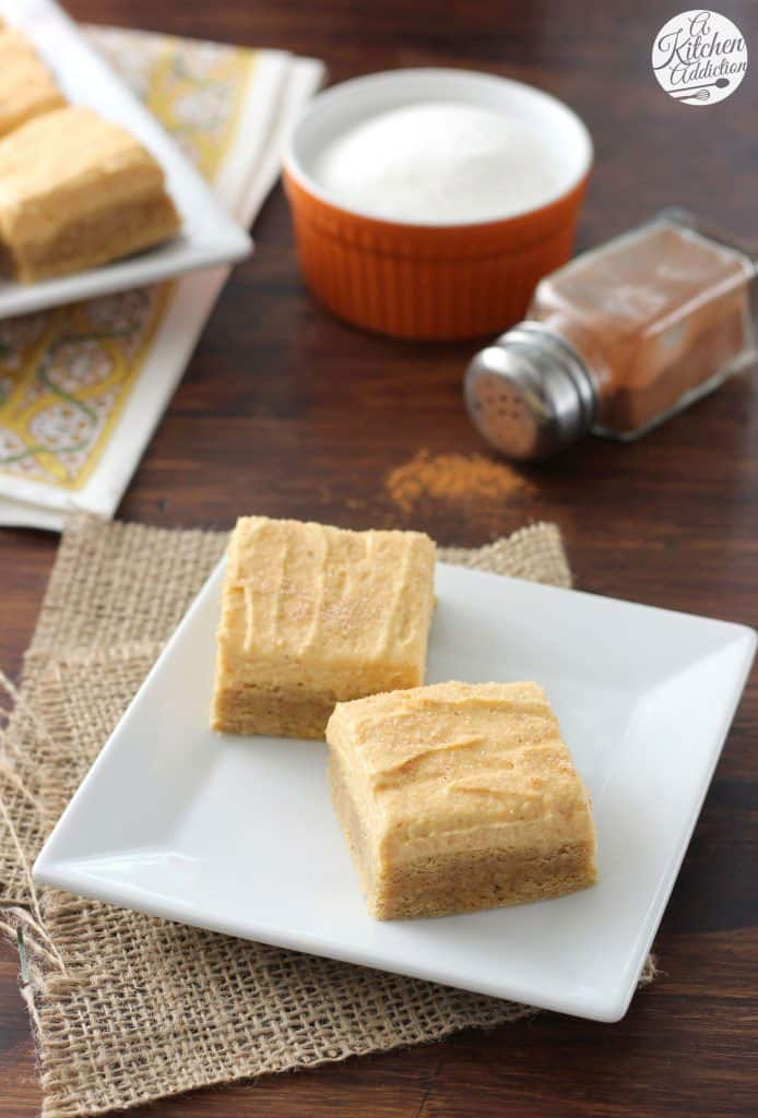 PUMPKIN SNICKERDOODLE COOKIE BARS