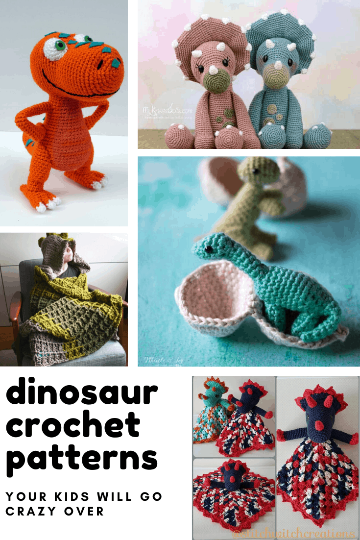 8 Adorable Dinosaur Crochet Patterns You'll Want to Make This Weekend!