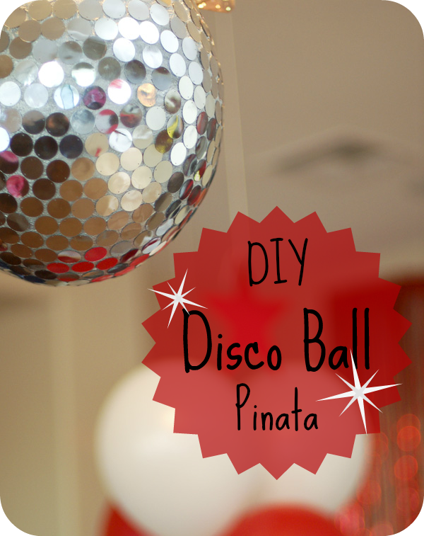 This glittering disco ball is also a pinata! Perfect for a New Year