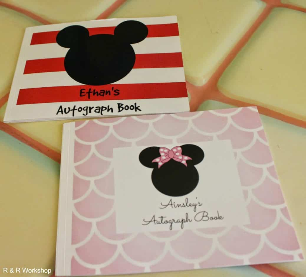 Disney Autograph Books | Custom | Personalized | DIY