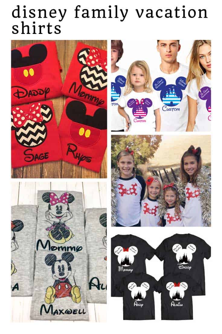 So many CUTE Disney family vacation shirts!