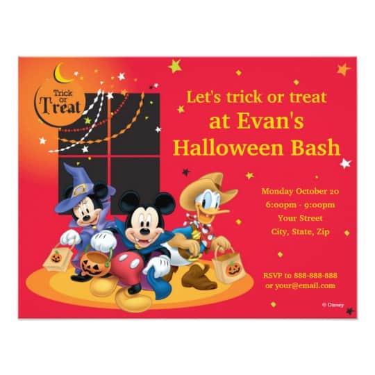 You can buy the Disney Halloween Party Invite here