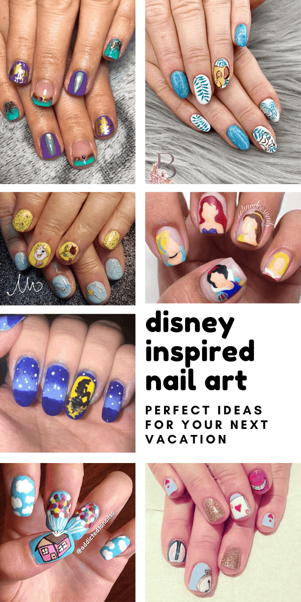 These Disney nail art ideas are so creative! Exactly what I need for my next Disney trip!