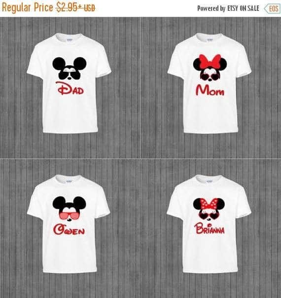 You can buy thePrint at Home Family Disney Shirts here
