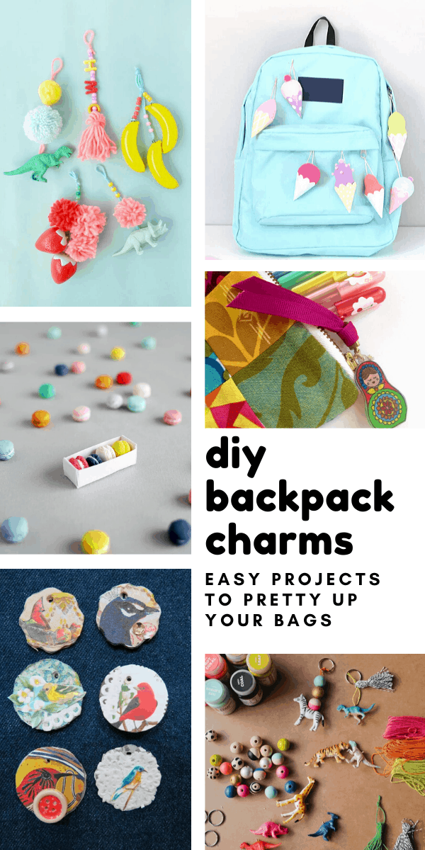 How cute are these DIY backpack charms? They'd look great on your journals too!