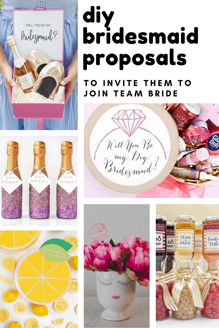 Loving these DIY bridesmaid proposals - so many creative ways to let your girls know you want them on team bride!