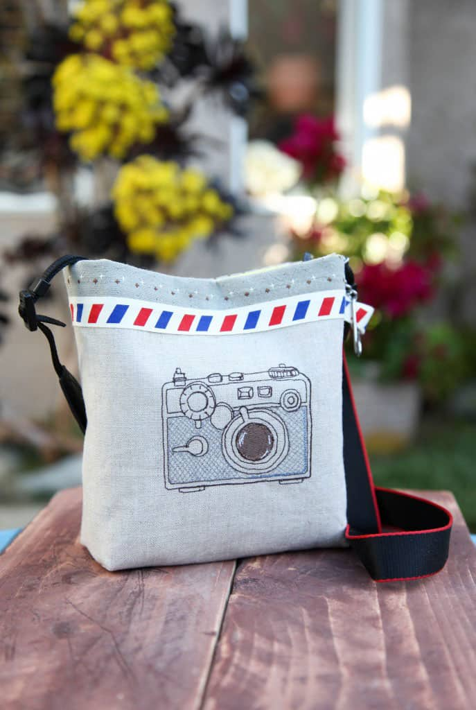 Camera Bag with Embroidered Camera