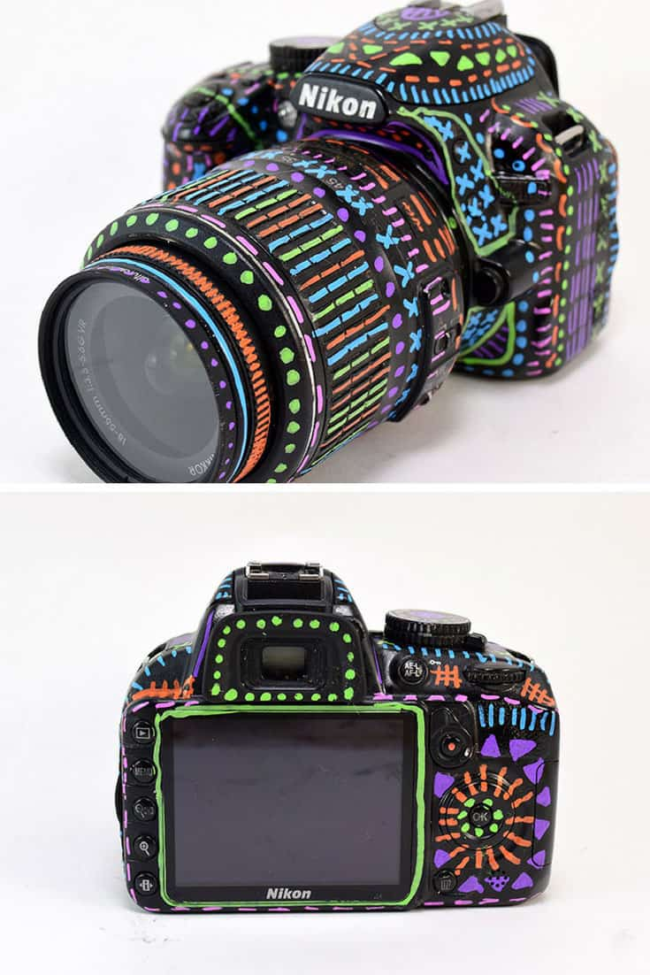 Sharpie Doodled DSLR Camera
