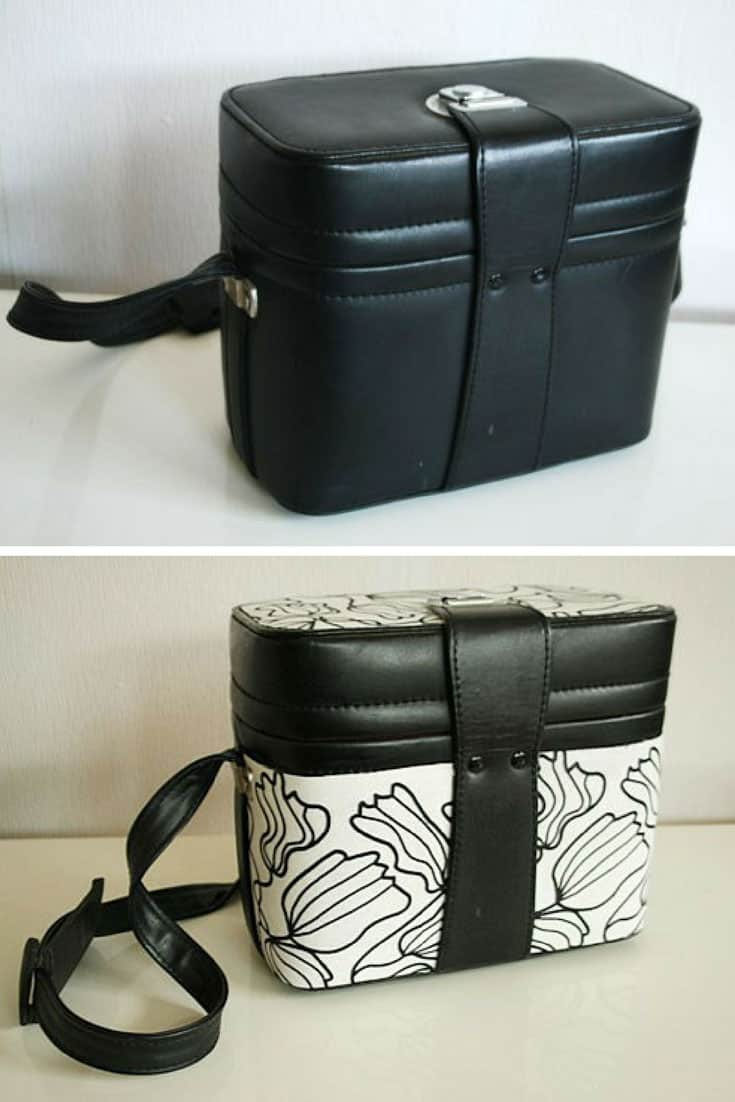 No Sew Fabric Covered Camera Bag Upcycle