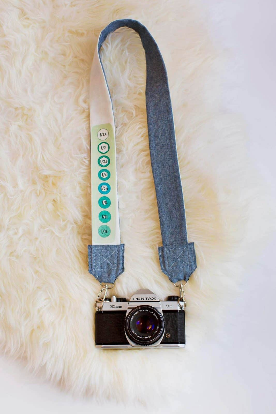 DIY Camera Strap with Cheat Sheet