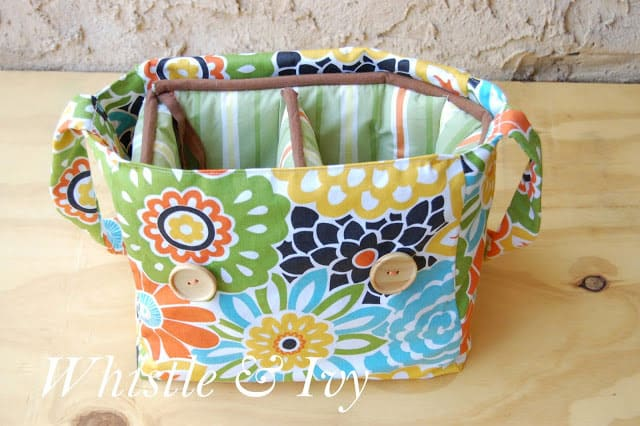 Incredibly Easy Lined Camera Bag with Upcycled Crib Bumpers
