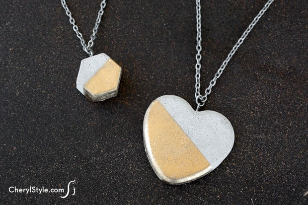 Easy DIY Concrete Necklace