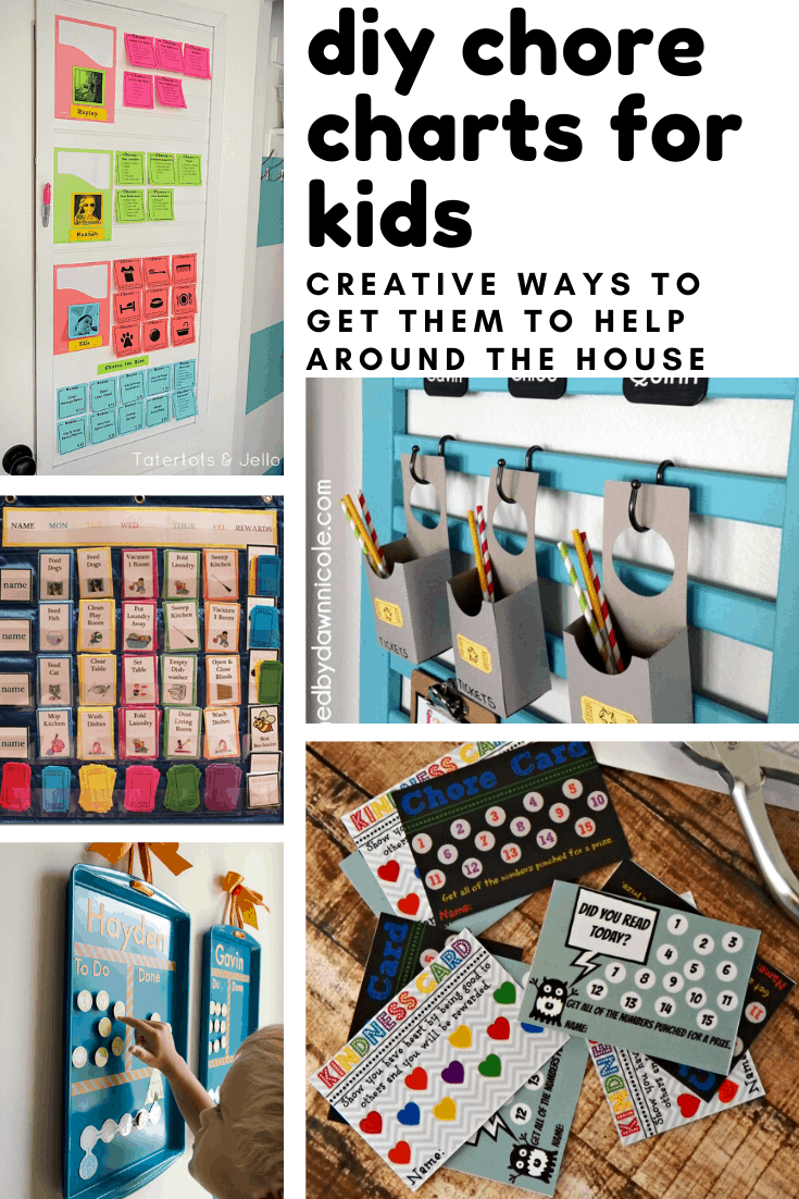 So many creative DIY chore charts for kids to inspire them to want to help our around the house