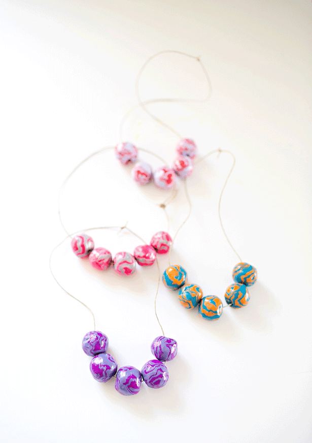 How to Make Clay Wooden Bead Necklaces