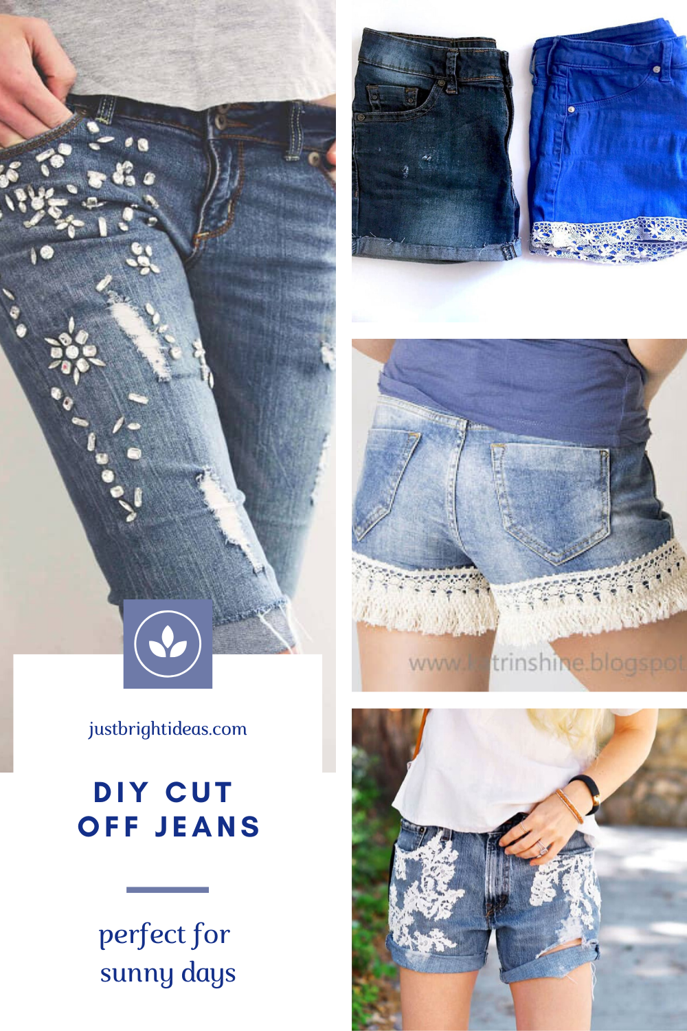 These DIY cut off jeans are perfect for sunny days.