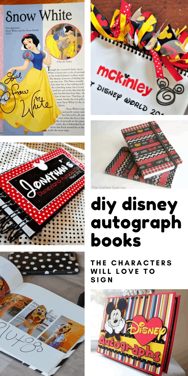 Loving these diy Disney autograph books! The perfect craft to do with the kids while you're counting down the days to your vacation - and the characters will love to sign them!