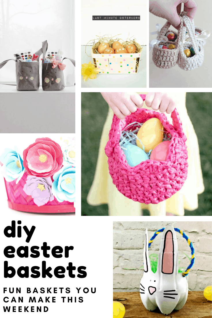 Loving these DIY Easter baskets that you can fill with treats for the kids - and many of the projects are upcycled too!