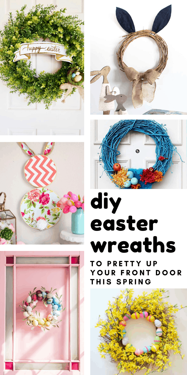 It's so easy to pretty up your home for the spring with one of these DIY Easter wreaths!