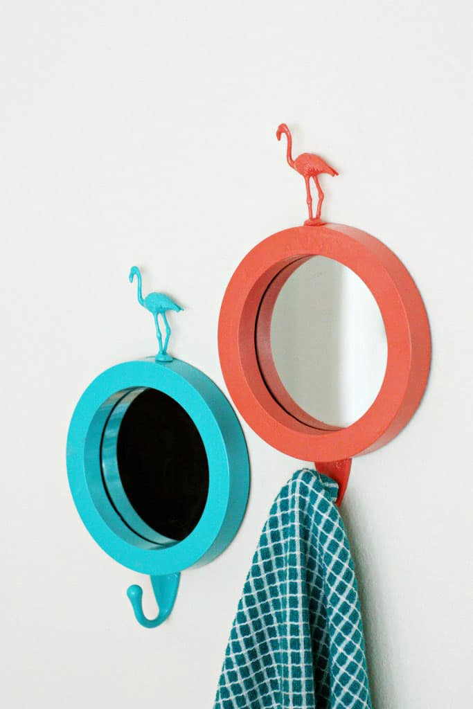DIY Flamingo Mirrors