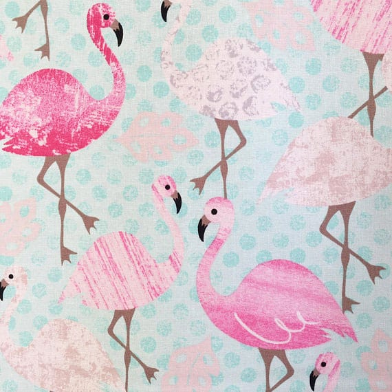 Flamingo Vintage Fabric