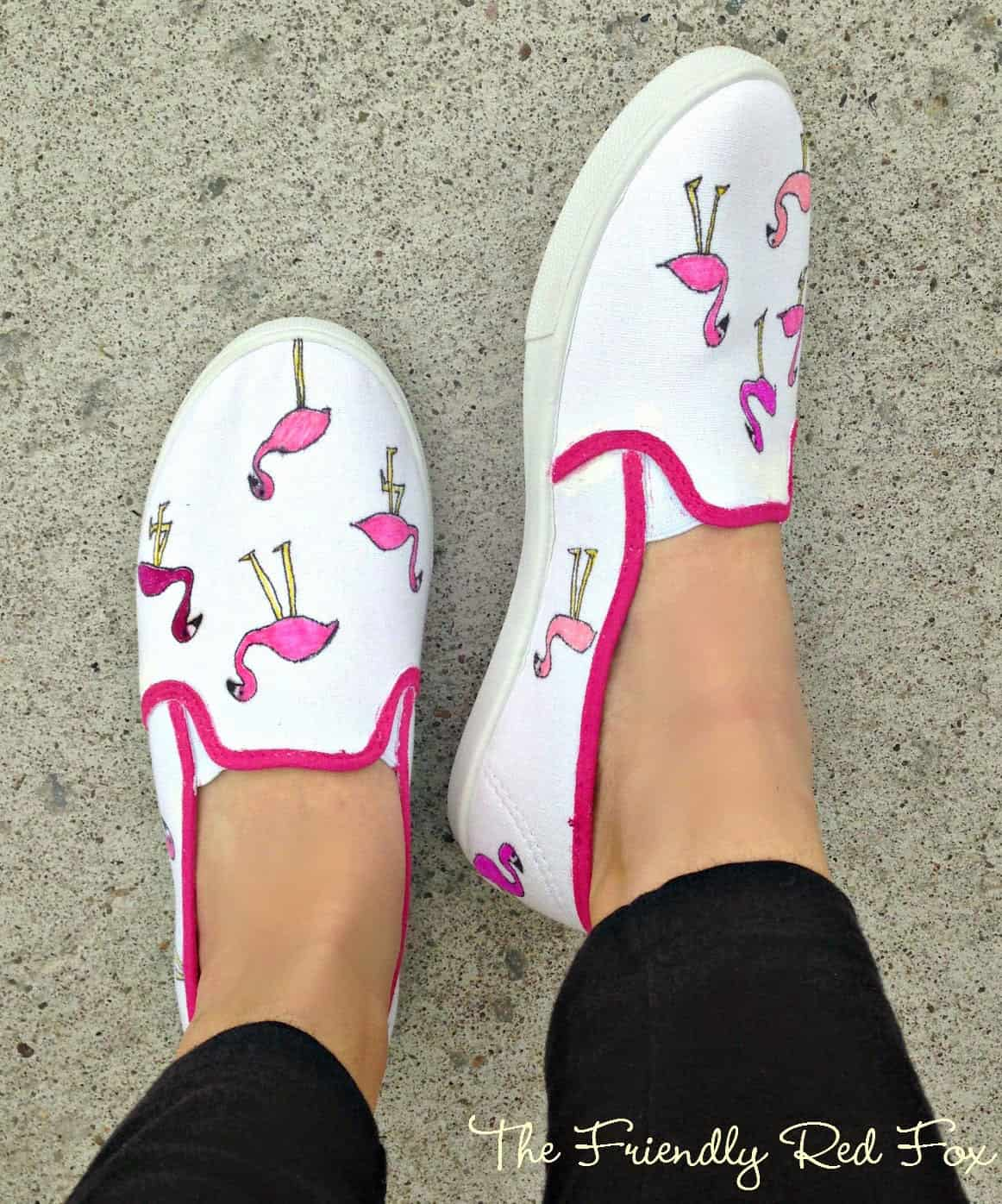 DIY Flamingo Shoes