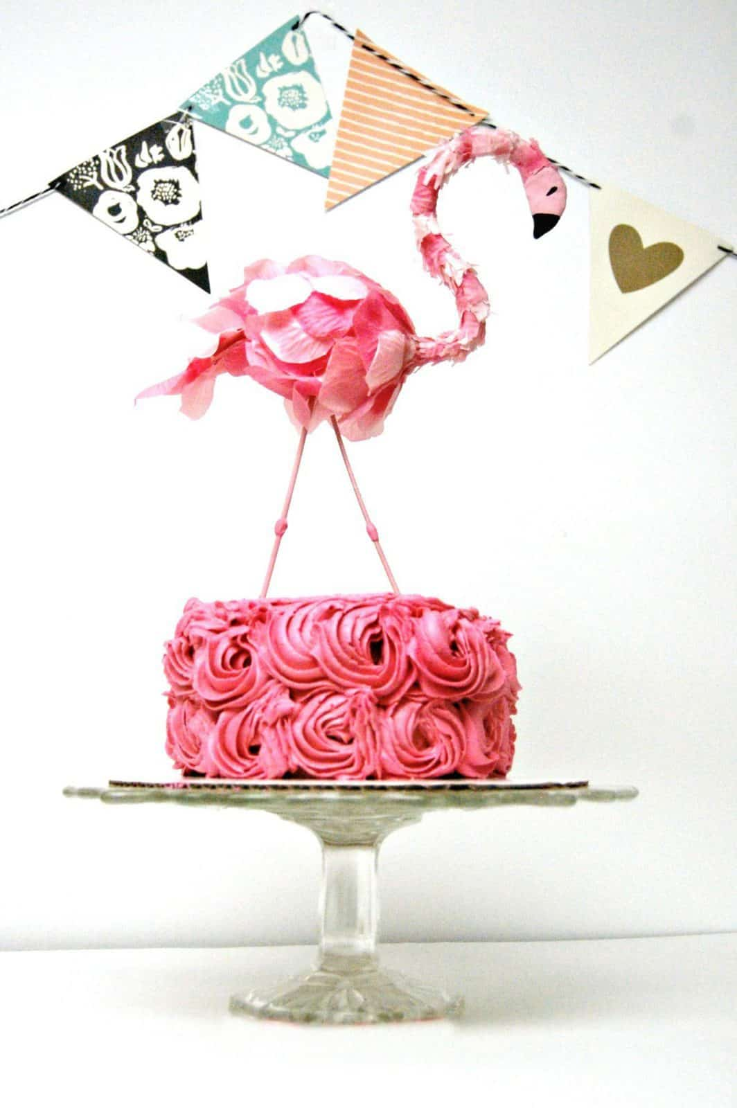DIY Flamingo Cake Topper