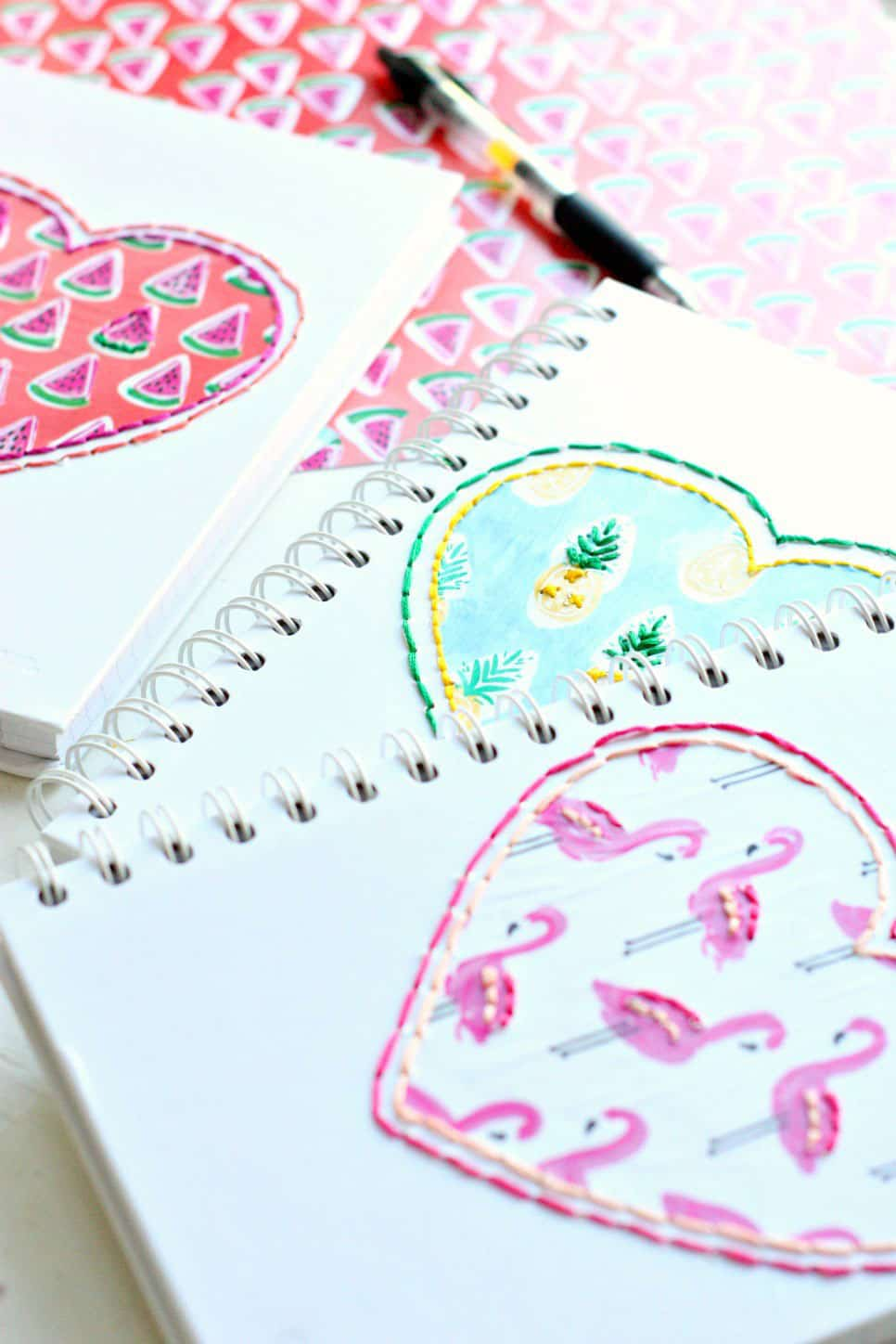 DIY Stitched Notebooks