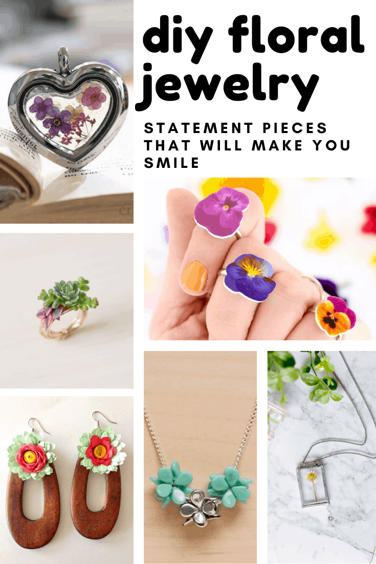 Loving these diy floral jewelry projects. So many statement pieces to craft at home this weekend!