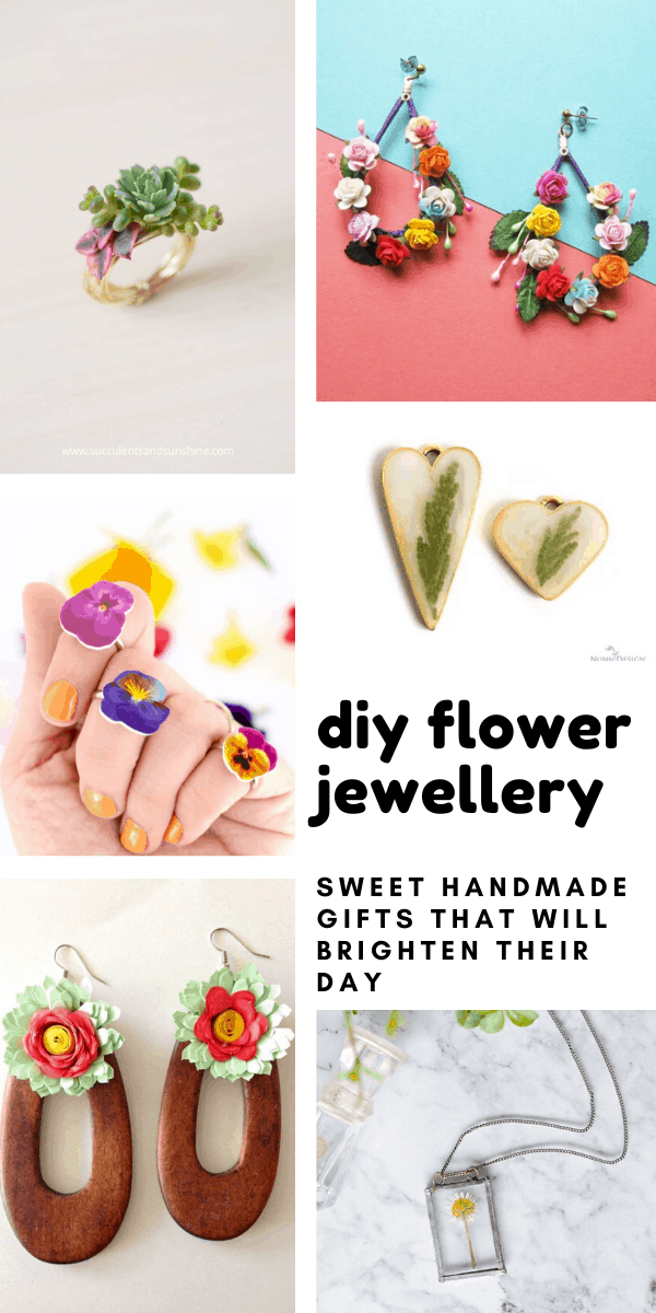 These diy flower jewellery projects are fun to make and would be a wonderful handmade gift for Mother's Day or a birthday