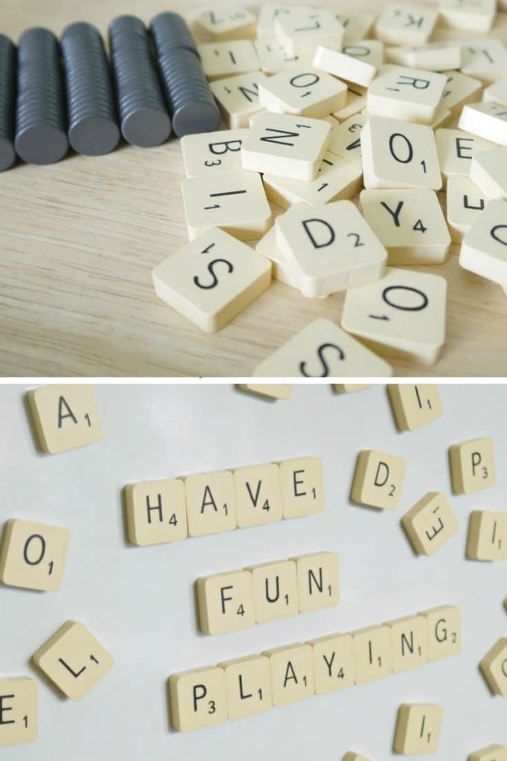 DIY Scrabble Magnets