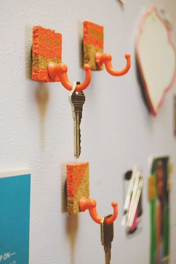 DIY Fridge Hooks