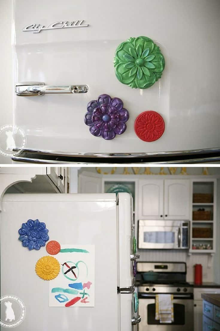 Easy Oversized DIY Fridge Magnets