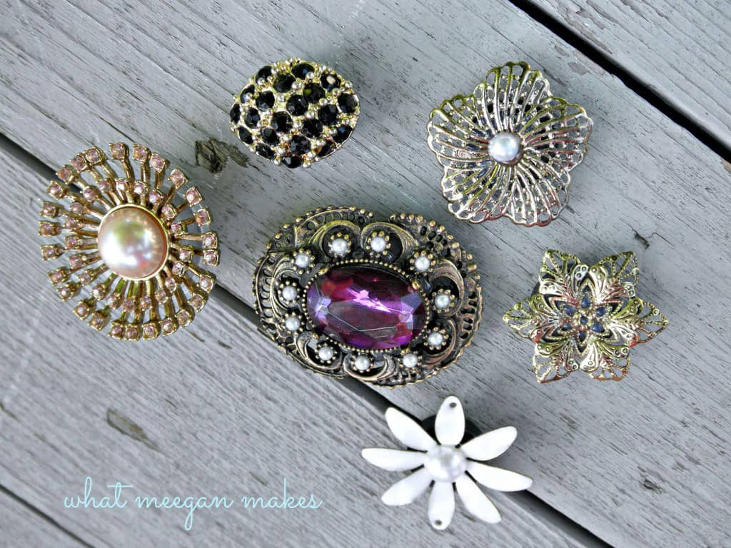 Vintage Brooch Fridge Magnets
